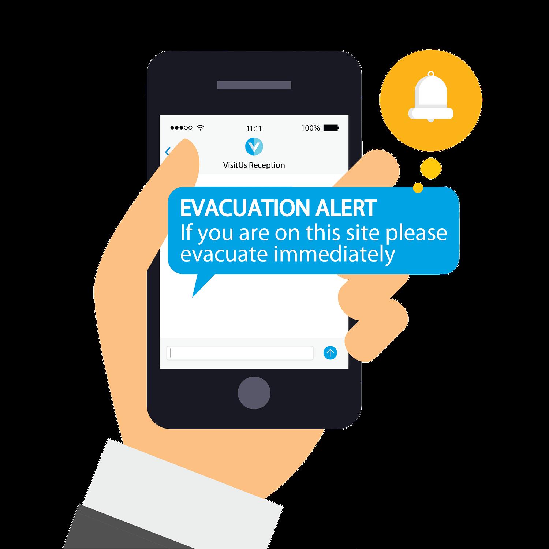 Evacuation Alert Notification On Mobile