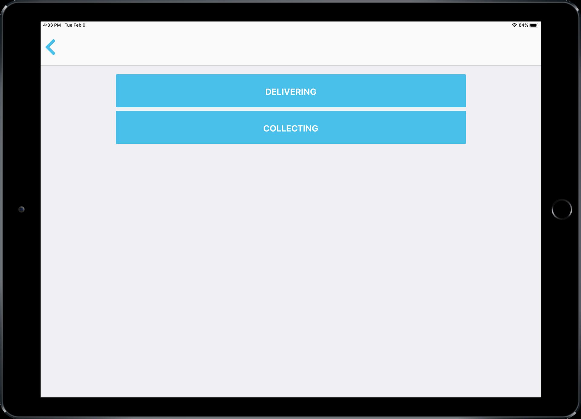 Deliveries iPad
