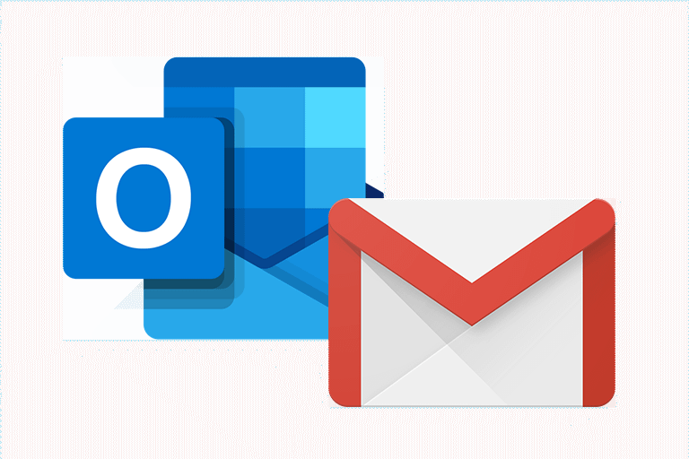 Outlook and Gmail icons