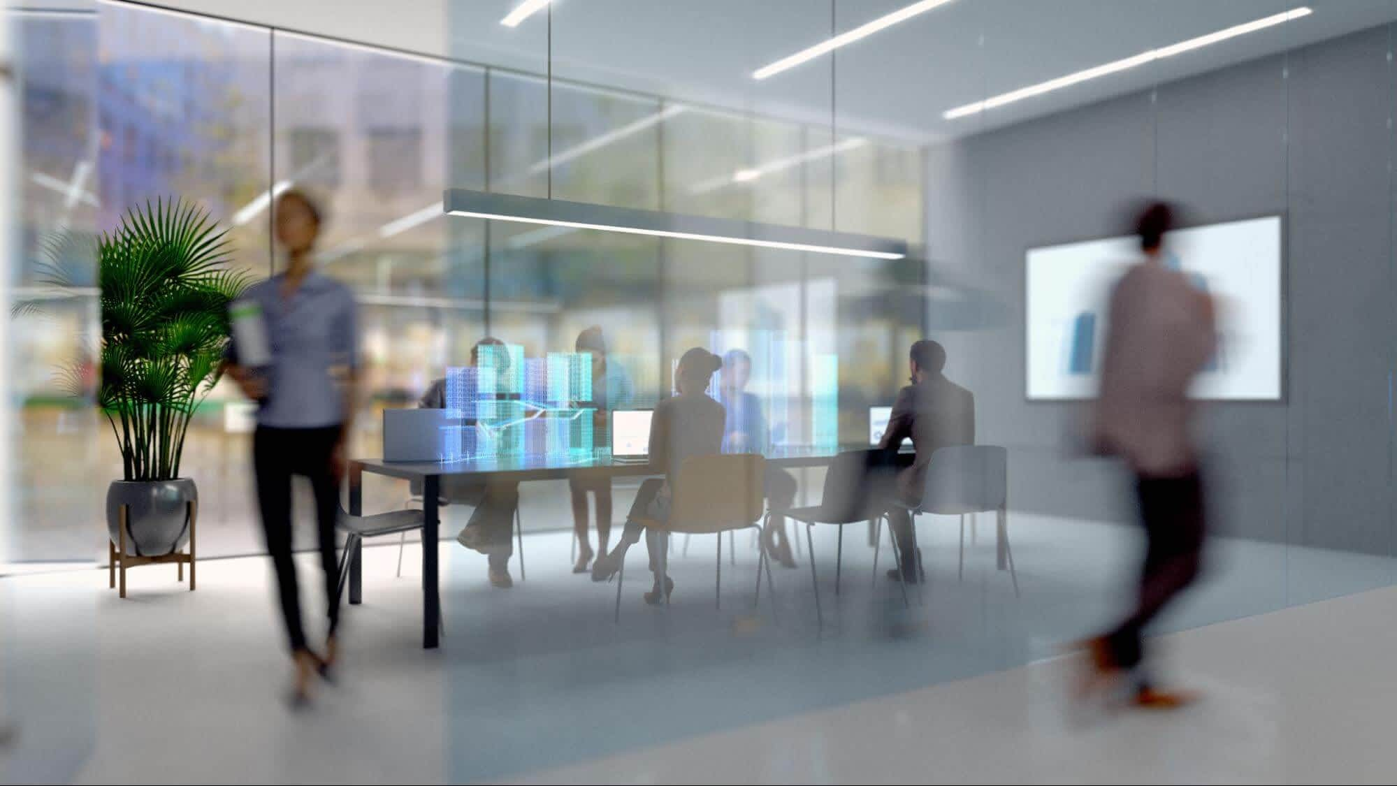 Future Workplaces Blurred Workspace